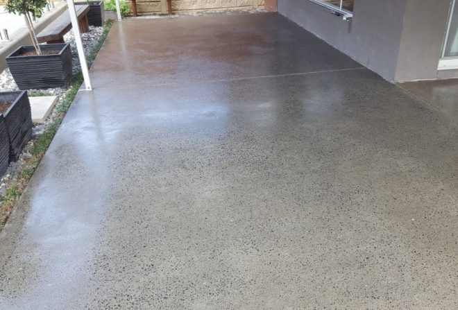 External Concrete Honing and Sealing